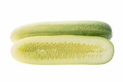 Haft cucumber  isolated. On white background Stock Image