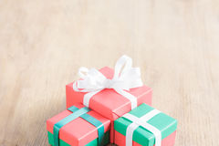 Haft gift box with copy space Royalty Free Stock Image
