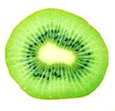 A haft of kiwi fruit isolated. On white Stock Photo