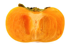 Haft of persimmon isolated Stock Photography