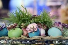Haft-Sin display. Haft-Sin table display during a Nowruz festival Stock Photo