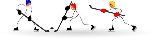 Haften Sie Zahlen Spieleishockey durch die olympischen Winterspiele Lizenzfreie Stockbilder