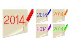 Haftnotiz 2014 Lizenzfreies Stockfoto