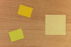 Haftnotizdesktop Stockbild