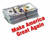 Haga América grande otra vez Imagen de archivo libre de regalías