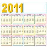 Haga calendarios 2011 con el lugar para su insignia Imagenes de archivo