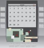 Haga calendarios 2012 años Imágenes de archivo libres de regalías