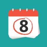 Haga calendarios con el número ocho Fotografía de archivo