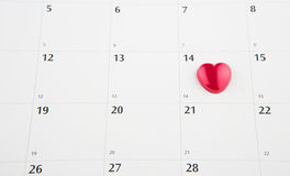 Haga calendarios con Valentine Heart Shape IV Fotografía de archivo libre de regalías