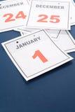Haga calendarios el día de Año Nuevo Foto de archivo