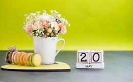 Haga calendarios el día de la metrología del mundo del 20 de mayo, día del Volga Imagen de archivo libre de regalías