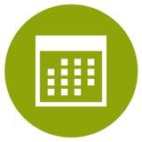 Haga calendarios el icono Foto de archivo libre de regalías