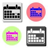 Haga calendarios el icono Icono plano del vector ilustración del vector