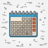 Haga calendarios el icono Vector del icono del calendario Dibujo del icono del calendario Calen Fotografía de archivo libre de regalías