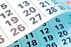 Haga calendarios la paginación fotografía de archivo libre de regalías