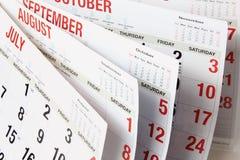 Haga calendarios las paginaciones imágenes de archivo libres de regalías