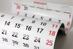 Haga calendarios las paginaciones foto de archivo