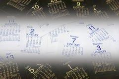 Haga calendarios las paginaciones imagenes de archivo