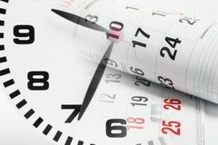 Haga calendarios las paginaciones y el reloj Imagen de archivo