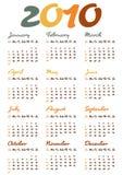 Haga calendarios por el año 2010 Imágenes de archivo libres de regalías