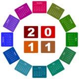 Haga calendarios por el año 2011 Imagenes de archivo