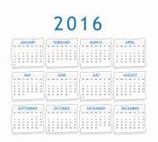 Haga calendarios por el año 2016 Imagenes de archivo