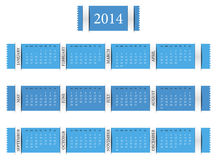 Haga calendarios por el año 2014 Fotografía de archivo libre de regalías