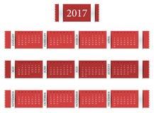 Haga calendarios por el año 2017 Foto de archivo