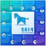 Haga calendarios por el año 2014 de papel coloreado. Imágenes de archivo libres de regalías