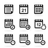 Haga calendarios un icono Imagen de archivo libre de regalías