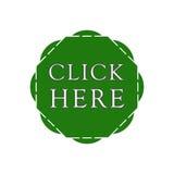 Haga clic aquí abotona Foto de archivo libre de regalías