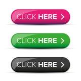Haga clic aquí el botón stock de ilustración