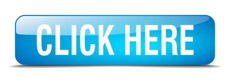 haga clic aquí el botón aislado cuadrado azul del web libre illustration