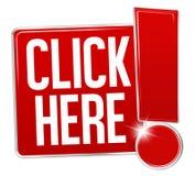 Haga clic aquí el diseño Imagen de archivo libre de regalías