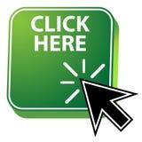 Haga clic aquí el icono stock de ilustración