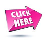 Haga clic aquí el icono de la flecha Imagen de archivo libre de regalías
