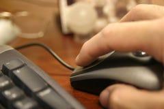 Haga clic el ratón Foto de archivo