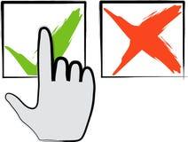 Haga clic encendido validan el icono libre illustration