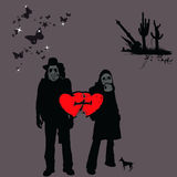 Haga el amor, ninguna guerra, 2 libre illustration