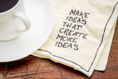 Haga el consejo de las ideas en napking Fotografía de archivo libre de regalías