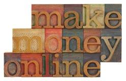 Haga el dinero en línea Foto de archivo