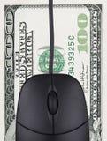 Haga el dinero en línea imagen de archivo