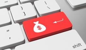 Haga el dinero en línea stock de ilustración