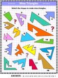 Haga el rompecabezas de la imagen de la matemáticas de los triángulos libre illustration