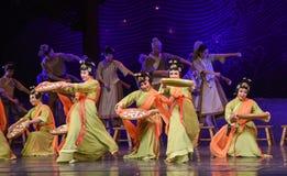"""Haga el sueño pegajoso del """"The del drama de la danza-danza de las bolas de arroz del  de seda marítimo de Road†Fotografía de archivo"""
