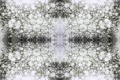 Haga espuma en un fondo blanco teñido con la tinta, collage Foto de archivo