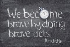 Haga frente a los actos Aristóteles imagen de archivo