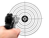 Haga fuego sobre la blanco del shooting Imágenes de archivo libres de regalías