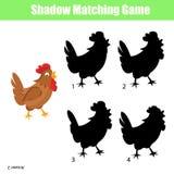 Haga juego el juego de los niños de la sombra Foto de archivo libre de regalías