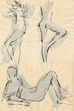 Haga la gimnasia, cuadros 11 ilustración del vector